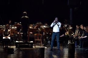 Richard Ayres: No. 42 (In the Alps). Trumpetista János Elmauer, Ostravskou bandu diriguje Rolf Gupta. FOTO ROMAN POLÁŠEK