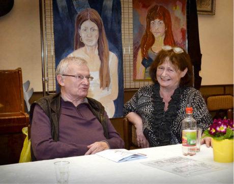 Divadlo není jenom sdělování, ale je i sdílení... Se svou ženou Mirkou, Červený Kostelec 2014 FOTO IVO MIČKAL