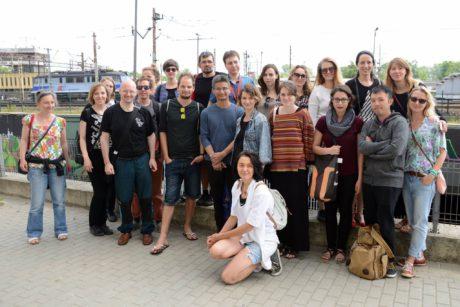 Naše skupina... (autorka těchto zpravodajstvi Petra Bruzlová stojí vpředu, třetí zprava). FOTO FB