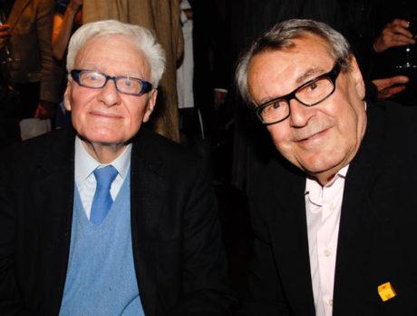 S Milošem Formanem v roce 2010 přo oslvách 25 let od vzniku jejich společného snímku Amadeus. FOTO archiv