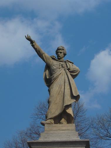 Pomník Karla Havlíčka Borovského v rodné obci Borová, dnes Havlíčkova Borová. FOTO archiv