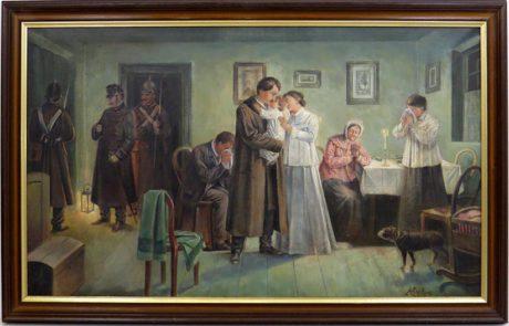 Květoň: Karel Havlíček Borovský před cestou do Brixenu, olej na plátně, dobová kopie dle obrazu Josefa Mathausera z roku 1906. Repro archiv