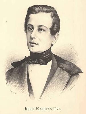 Josef Kajetán Tyl na dobové kresbě. Repro archiv