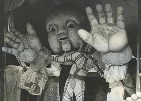 Obr Gargantua – jeho smích a život v Naivním divadle Liberec (Premiéra 27.03.1992) FOTO JOSEF PTÁČEK