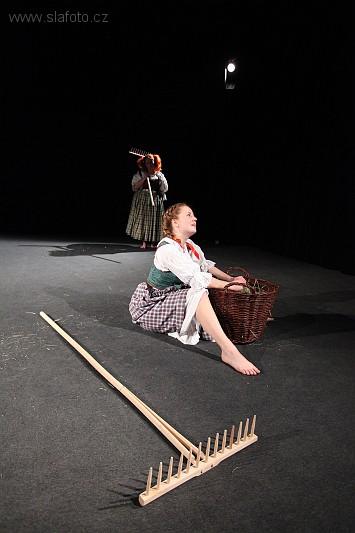Ušubraná divadelního souboru Děvčátko a slečny je čistokrevným inscenačním hitem. FOTO archiv souboru
