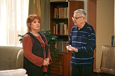 S Božidarou Turzonovovou v seriálu televize Joj Panelák. FOTO archiv TV Joj