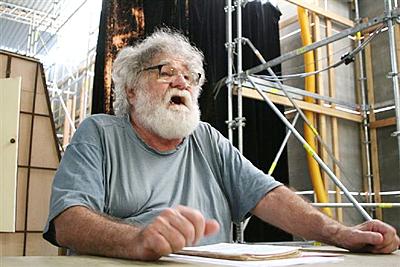 V projektu ND Bouda na piezzetě nové scény (prem. 13. 6. 2007). FOTO archiv ND