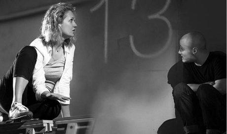 Z inscenace (M)Učedník Maria von Mayenburga (premiéra 13. června 2014), s níž bude Gogolovo centrum 9. září hostovat na festivalu DIVADLO v Plzni FOTO IRA POLJARNAJA