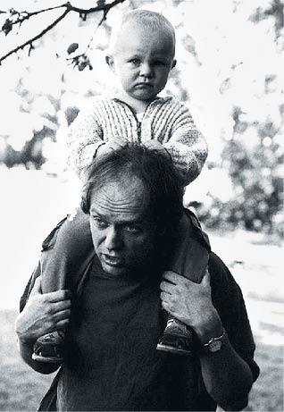 René a Matyáš Levínští, zkouška na Hrádečku, červen 2000  FOTO ZDENĚK ŠKRDLANT
