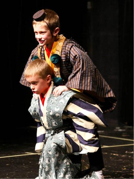 Premiéra dětské verze hry Horský asketa zlodějem tomelů. Dětské studio MDK na podzim 2015 v brněnském HaDivadle  FOTO ARCHIV ONDŘEJE HÝBLA