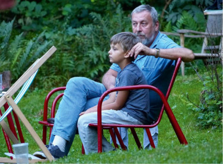 Andrej Sannikau a jeho syn Danik,  Hrádeček 2014 Foto Bohdan Holomíček