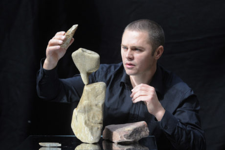 Pic Greg Macvean - 19/08/2013 - Nick Steur who's show Freeze! is on at Summerhall and involves Nick balancing rocks on top of each other