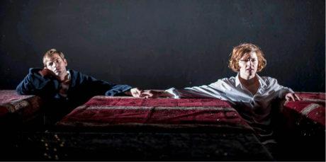 S Matějem Nechvátalem v inscenaci Malina, která pojednává o rakouské básnířce a filosofce Ingeborg Bachmann (režie Lucie Ferenzová, premiéra 20. prosince 2014 v MeetFactory, Praha) FOTO DITA HAVRÁNKOVÁ