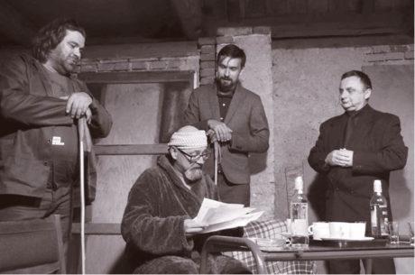 Zleva Radek, Tomáš, Vojta a hostující Ivo Bureš v Kalném ránu na letošním Hrádečku FOTO ALEŠ FORMÁNEK