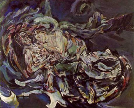 Oskar kokoschka: nevěsta ve větru, autoportét s Almou Mahler, olej na plátně, 1913. Repro archiv