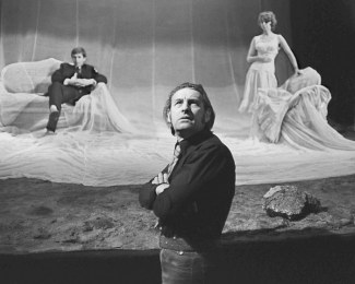 V r. 1971 během zkoušky Dostojevského Běsů, 1971 v Teatru Starém v Krakově. FOTO WOJCIECH PLEWINSKI