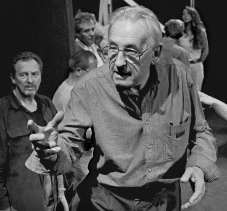 Věhem zkoušky inscenace Klatwa ve Starém Teatru v Krakově v roce 1997. FOTO WOJCIECH PLEWINSKI
