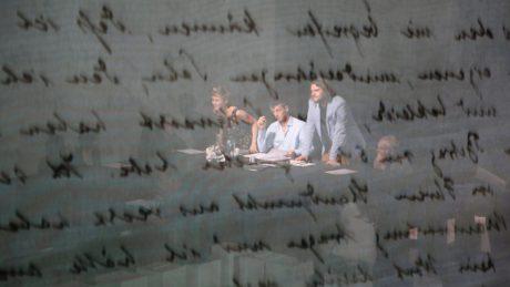 Badisches Staatstheater Karlsruhe - H.-W. Kroesinger: Stolpersteine Staatstheater / Kameny zmizelých. Staatstheater. FOTO ROB MOONEN