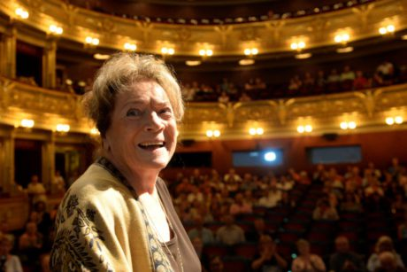 1. září 2015 vstoupila Vlasta Chramostová do Síně slávy Národního divadla. FOTO archiv ČT
