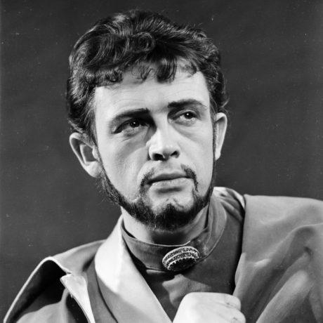 V roli titulní roli hry friedricha Schillera Fiesco (r. Alois Hajda, prem. 9. 5. 1958, KD České budějovice). FOTO archiv JD ČB
