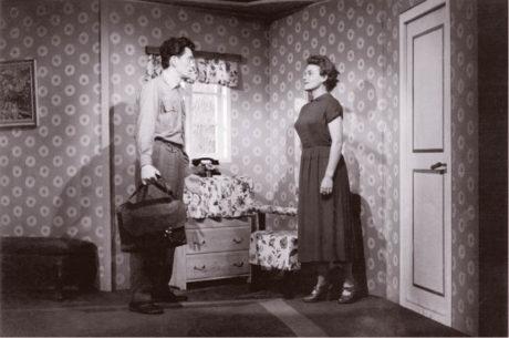 Miroslav Abraham a Milada Matuchová, Vlasta Petrovičová: Slamník, režie Karel Texel, Vesnické divadlo 1956  FOtO ARCHIV AUTORKY