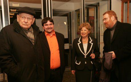 Na předpremiéře filmu Pamětnice (vpravo) v roce 2009. FOTO ONDŘEJ LITTERA