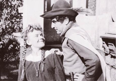 Milada Matuchová (Loupežnice v pohádce s Raoulem Schránilem (Vůdce loupežníků) FOTO ARCHIV AUTORKY