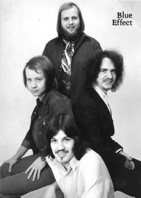 Blue Effect v roce 1971 v době nahrávání LP Nová syntéza (nahoře Lešek Semelka, vlevo Radim Hladík, vpravo Jan kozel a dole Vlado Čech). FOTO archiv