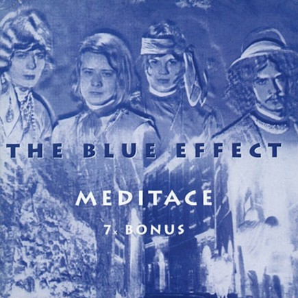Obal 1. LP skupiny Blue Effect Meditace (zleva Vladimír Mišík, Radim Hladík, Vlado Čech a Jiří Kozel). Repro archiv
